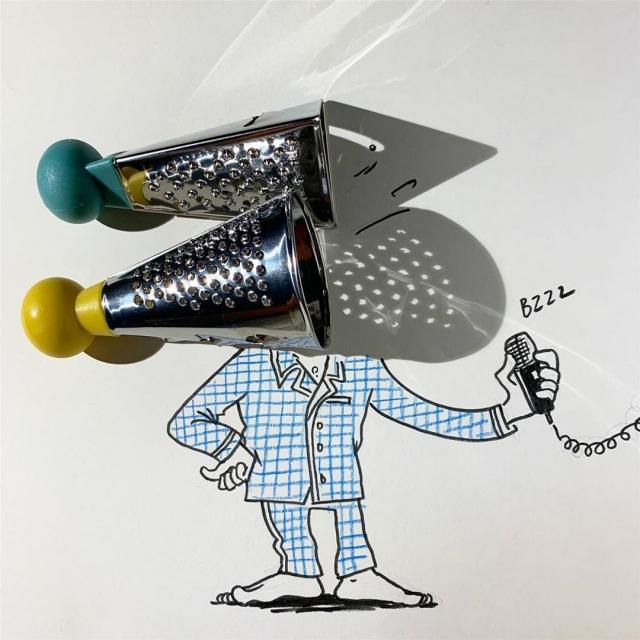 Французский художник создает потрясающие рисунки с помощью теней (Фото)