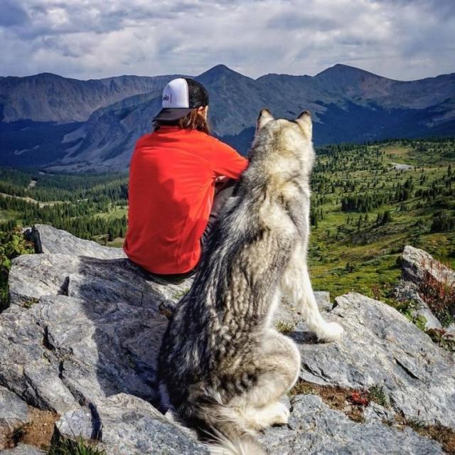 Фото: Парень повсюду путешествует со своей собакой (Фото)